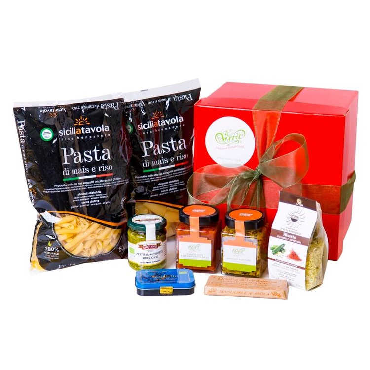 Italian Gluten Free Goodies Gift Hamper with Pasta, Risotto, Sauce & Chocolates