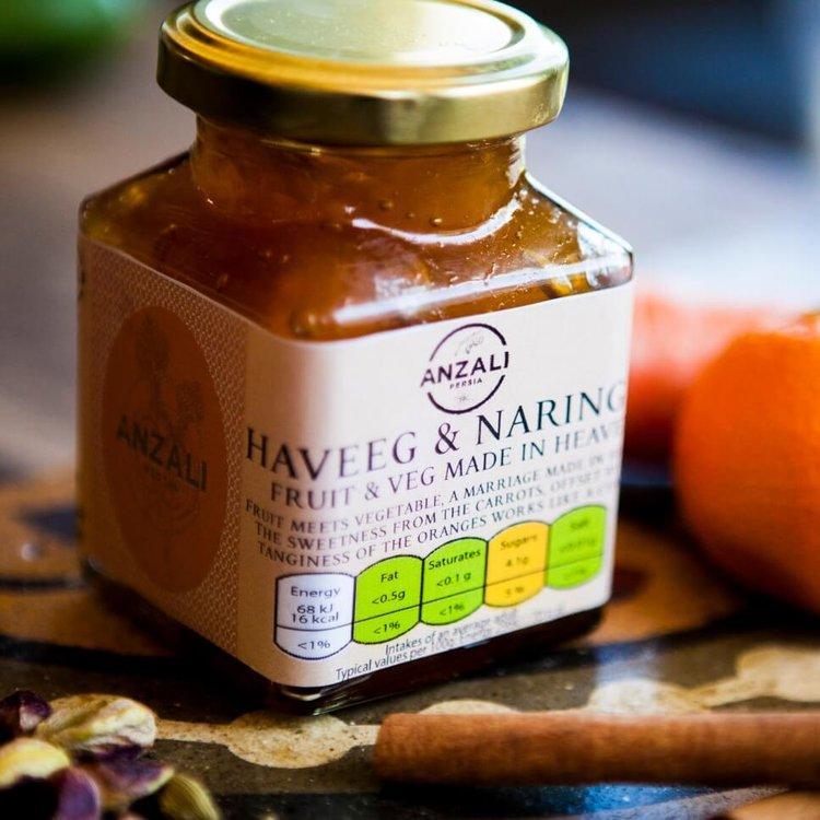 Haveeg & Naringee Moraba (Carrot & Orange Jam) 220g