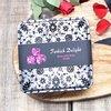 Rose Turkish Delight with Rose Petals Gift Tin by Truede 250g - Vegan Turkish Delight Lokum