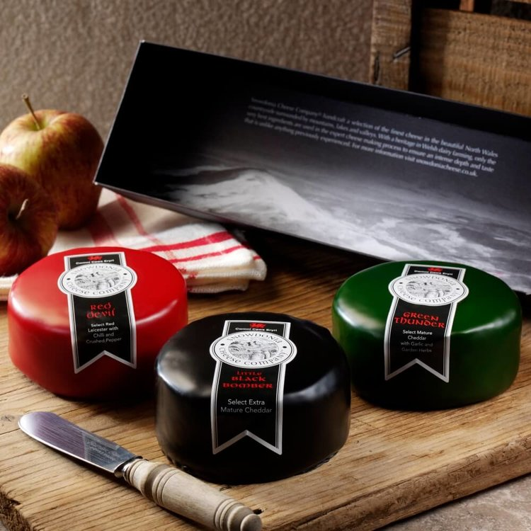 Black Bomber, Red Devil & Green Thunder Snowdonia Cheese Trio 3 x 200g