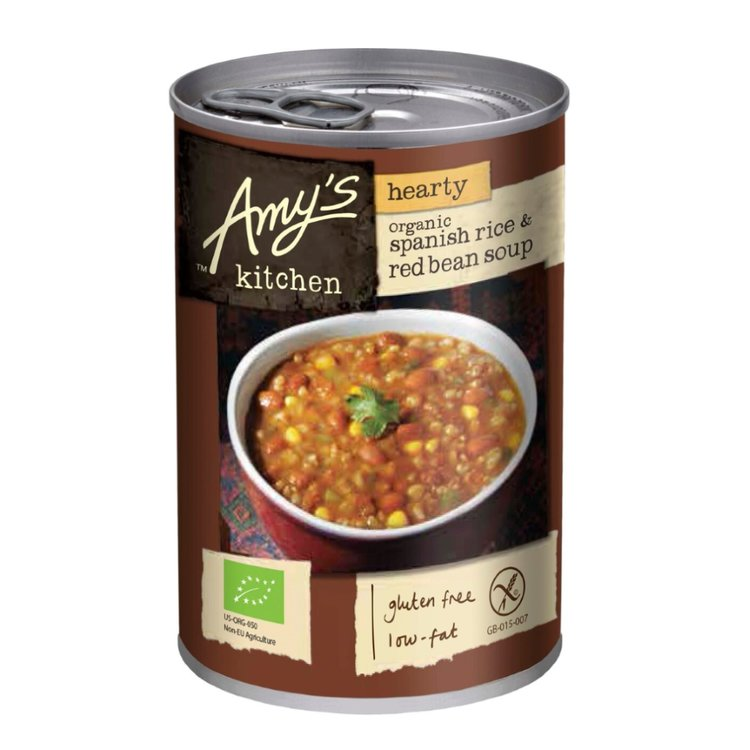 Organic Hearty Spanish Rice & Red Bean Soup 416g