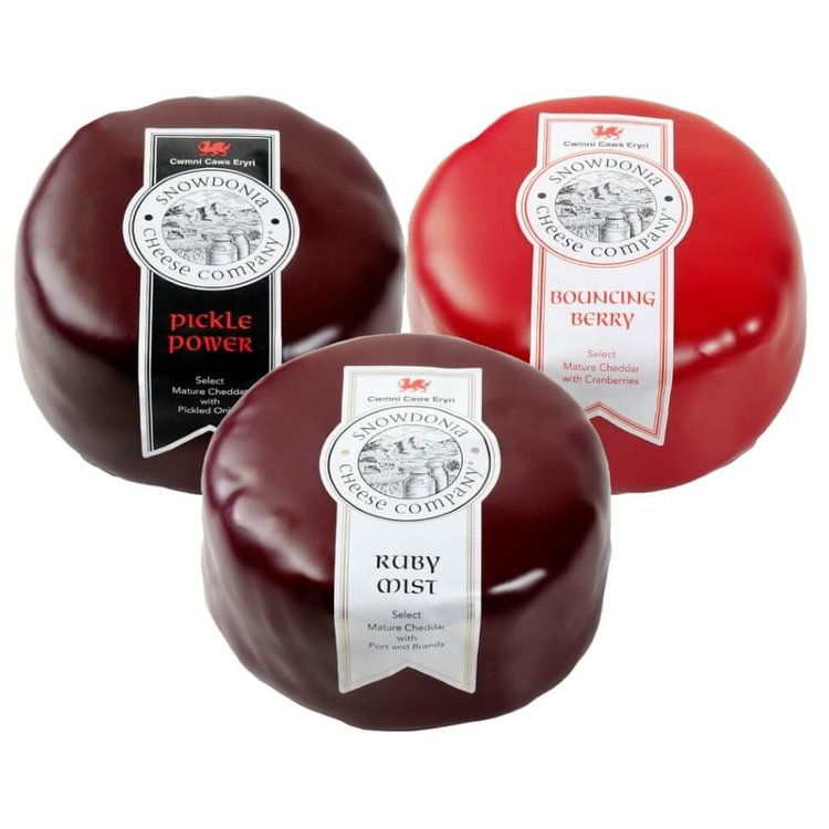 Pickle Power, Bouncing Berry & Ruby Mist Snowdonia Festive Cheese Trio 3 x 200g