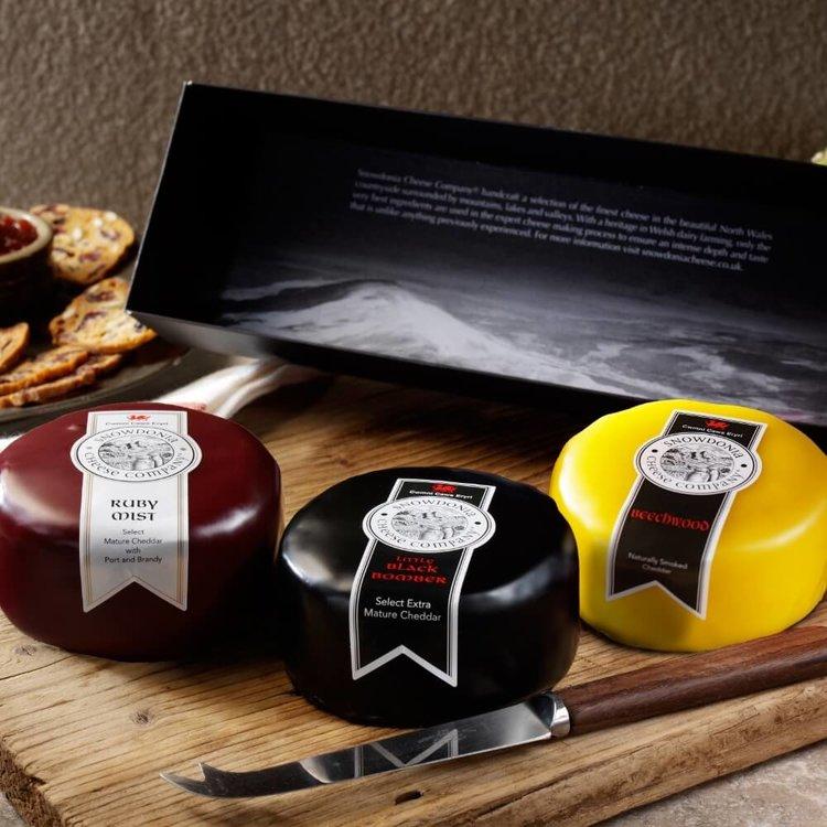 Black Bomber, Ruby Mist & Beechwood Snowdonia Cheese Trio 3 x 200g