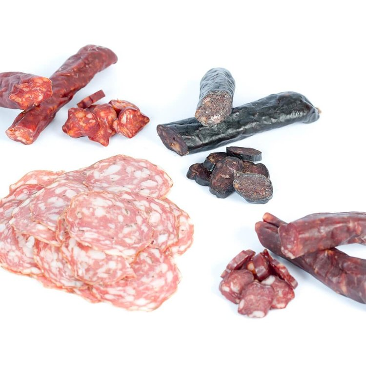 Welsh Salami Selection from Trealy Farm Inc. Duck, Veal & Lamb 315g