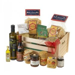 'La Vegetariana' Italian Vegetarian Gift Hamper Inc. Balsamic Vinegar, Coffee, Pasta & Olive Oil