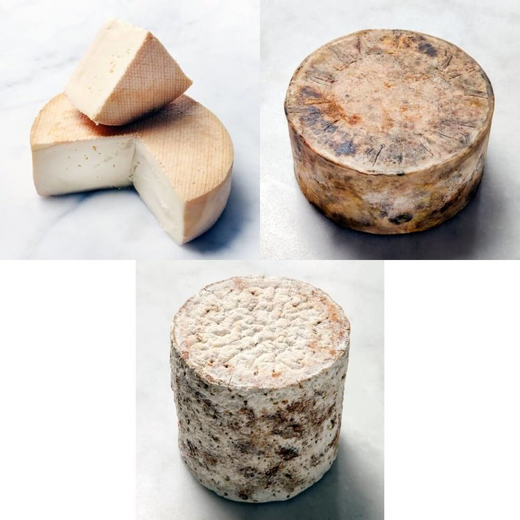 3 Whole Classic British Artisan Cheeses (Quicke's Cheddar, Baby Stilton, Stinking Bishop) 5kg