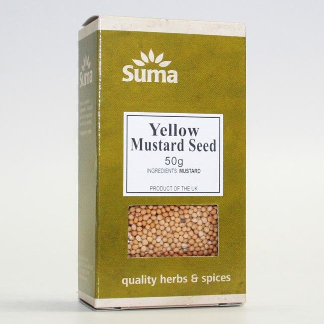 Yellow Mustard Seeds 50g