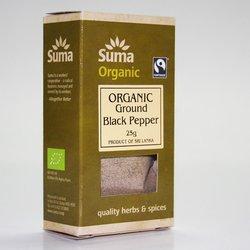 Organic Fairtrade Ground Black Pepper 25g
