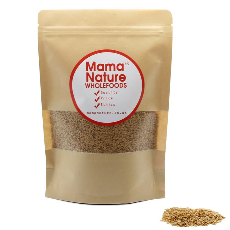 Naturally Farmed Golden Flaxseeds 1kg