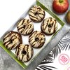 Toffee Apple Vegan Doughnut Gift Box by Norah's Brownies with 6 x Toffee Apple 'Bronuts'