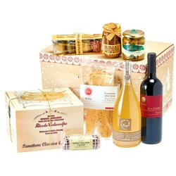 Christmas Party Italian Gift Box (Inc. Panettone, Prosecco, Wine & Antipasti)