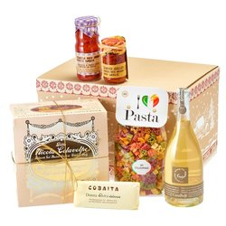 Vegetarian Italian Christmas Hamper Inc. Prosecco, Panettone & More
