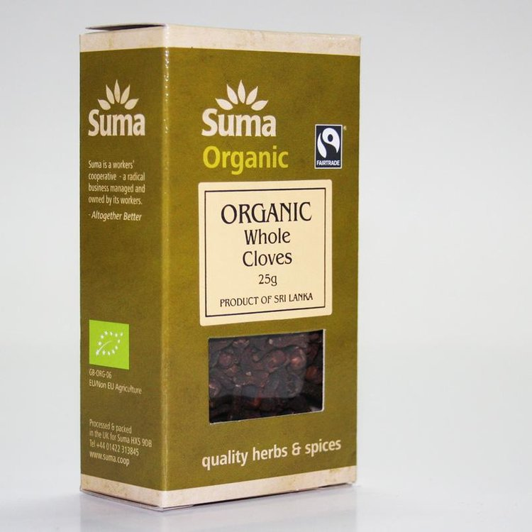 Organic Fairtrade Whole Cloves 25g