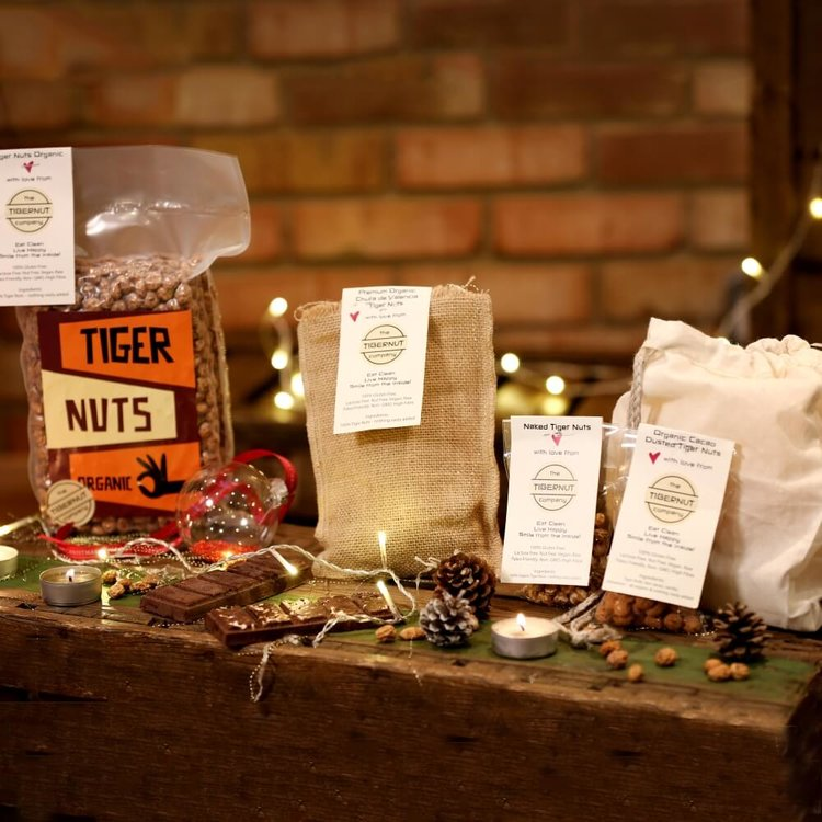 Tiger Nuts Gift Box with Tiger Nuts, Chocolate & Milk Bag