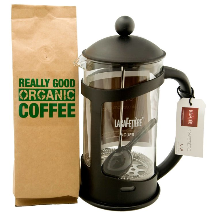 Organic Coffee & Cafetière Gift Set
