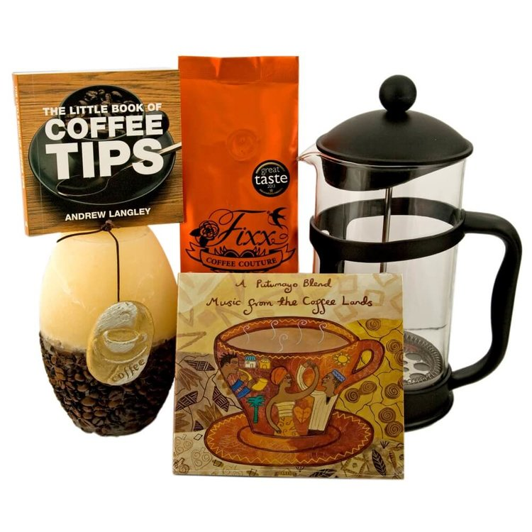 Luxury Coffee Lovers' Gift Bag with Fixx Coffee, Coffee Maker, Book & More