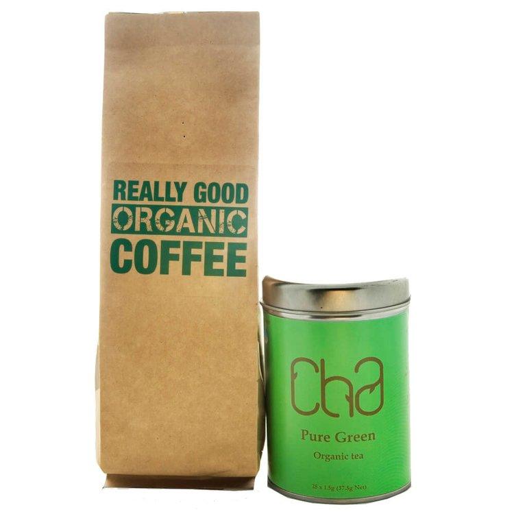 Green Tea & Coffee Organic Gift Set