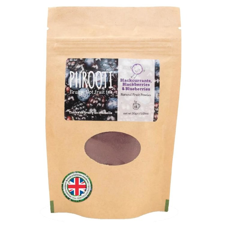 Blackcurrant, Blackberry & Blueberry Infusion (Natural Dried Fruit Powder for Tea & Smoothies) 30g