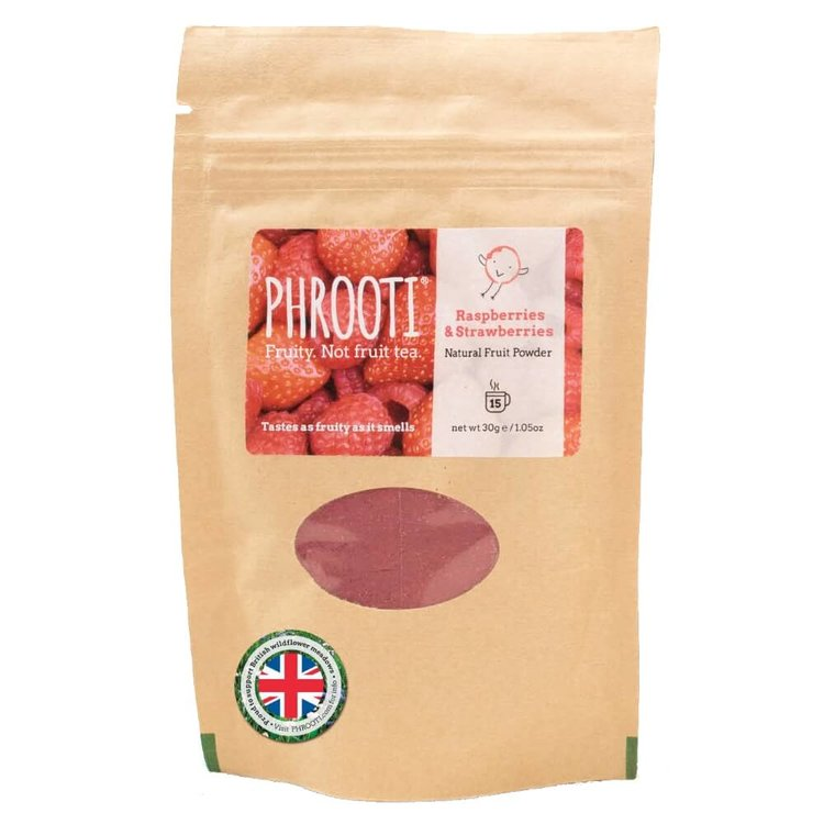 Raspberry & Strawberry Infusion (Natural Dried Fruit Powder for Tea & Smoothies) 30g