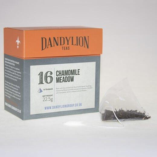 'Chamomile Meadow' Tea (With Jasmine Blossom & Rose Petals) 15 Tea Bags