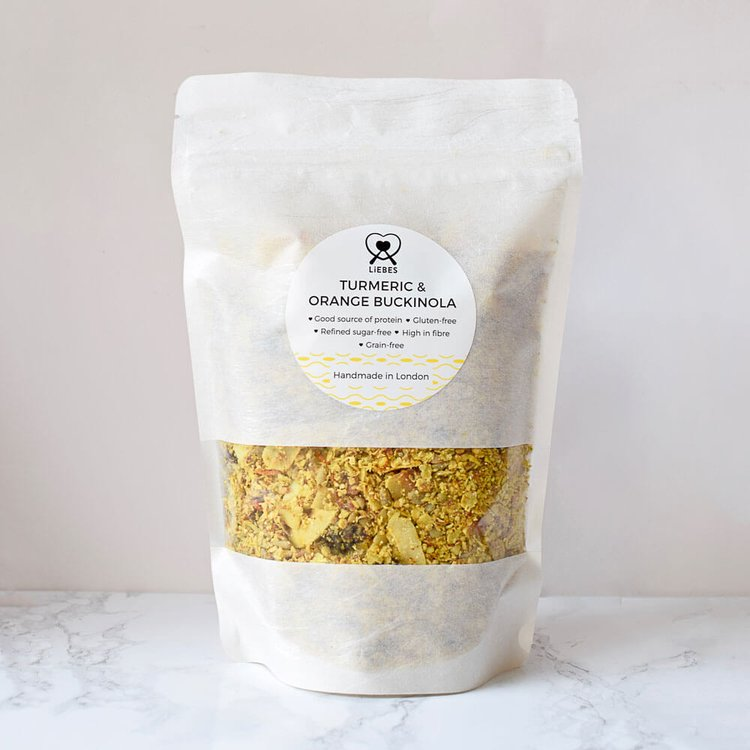 Tumeric & Orange Buckinola (Buckwheat Granola) 400g