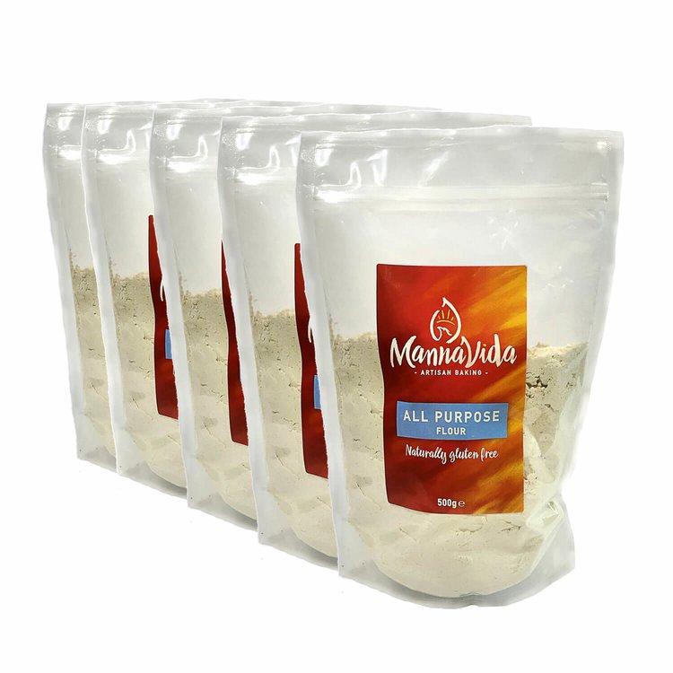 5 x All-Purpose Plain Flour Mix 500g (Gluten Free Inc. Tapioca, Potato, Rice, Maize & Sorghum)