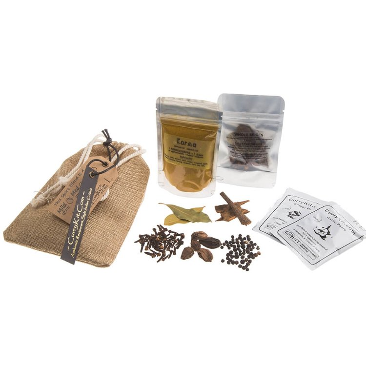 Korma Curry Spice Kit in Drawstring Bag 40g (Vegan Spice Mix)