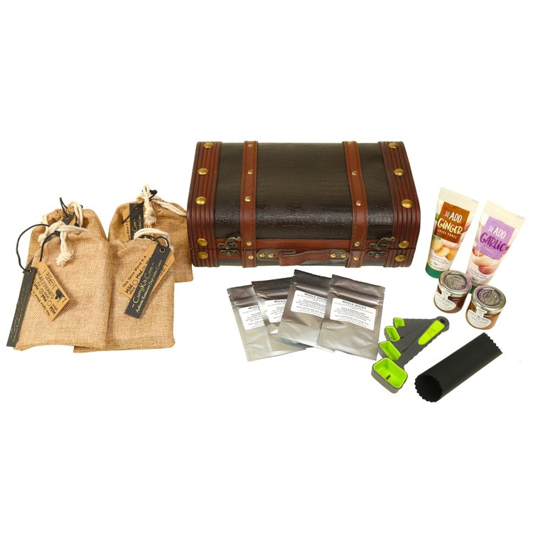 Hot Indian Curry Spice Gift Set in Suitcase (Vegan Spice Mix)