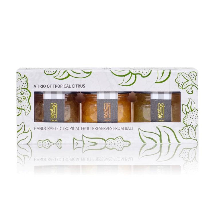 Tropical Citrus Trio Gift Set (Lime, Balinese Tangerine, Lime & Ginger Marmalades) 3 x 28g