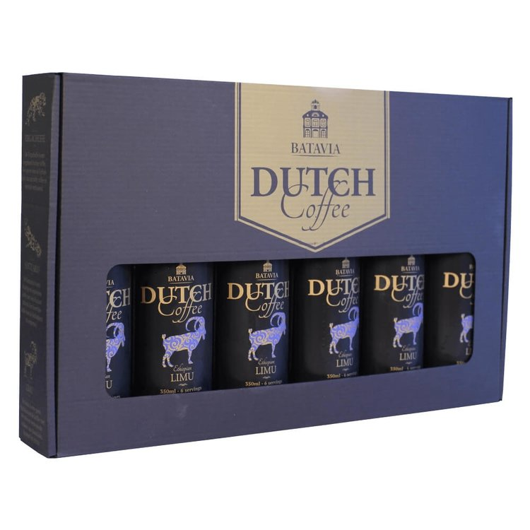 Batavia Cold Drip Dutch Coffee Made From 100% Arabica Single Origin Ethiopian Limu Beans - Gift Set 6 x 350ml