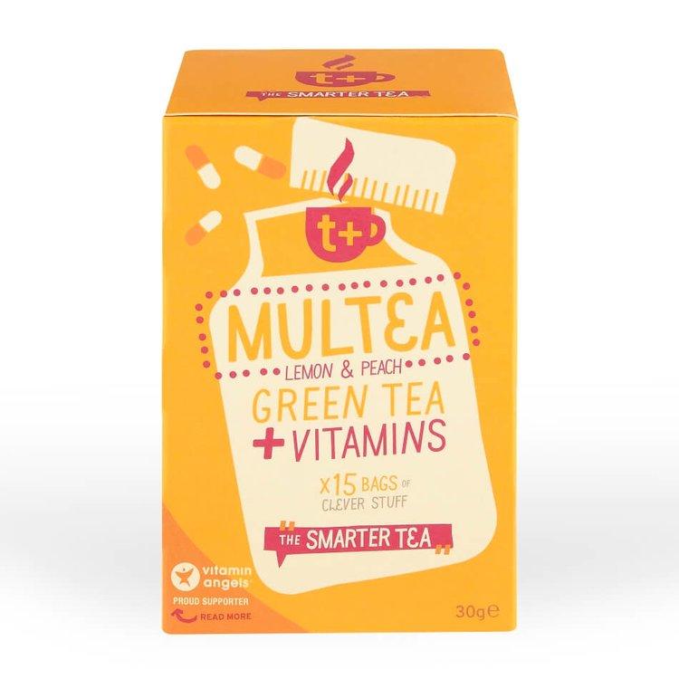 Vitamin-infused Lemon & Peach 'Multea' Green Tea 15 Tea Bags