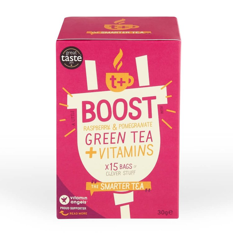 Vitamin-infused Raspberry & Pomegranate 'Boost' Green Tea 15 Tea Bags