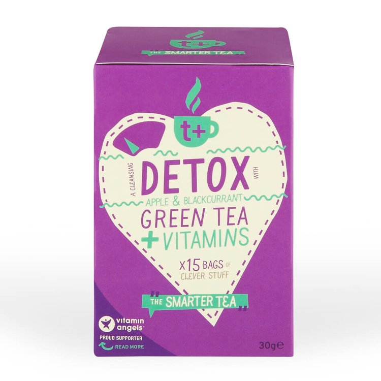Vitamin-infused Apple & Blackcurrant 'Detox' Green Tea 15 Tea Bags