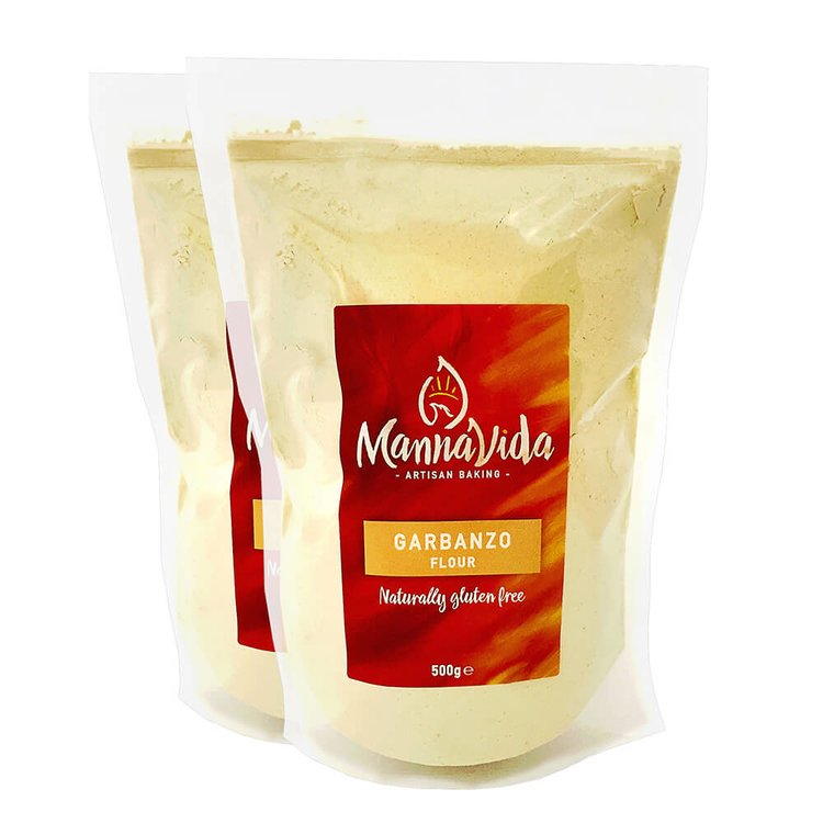 2 x Garbanzo (Chickpea) Flour 500g - Gluten-Free Gram Flour for Falafel, Hummus & Papadums