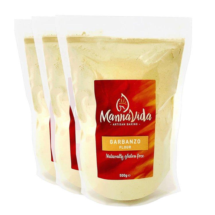 3 x Garbanzo (Chickpea) Flour 500g - Gluten-Free Gram Flour for Falafel, Hummus & Papadums