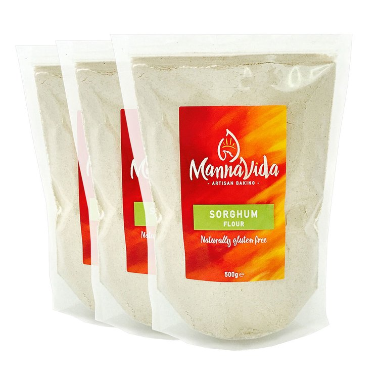 3 x Sorghum Flour 500g - Gluten Free (For Cooking & Baking Breads, Cakes & Cookies)