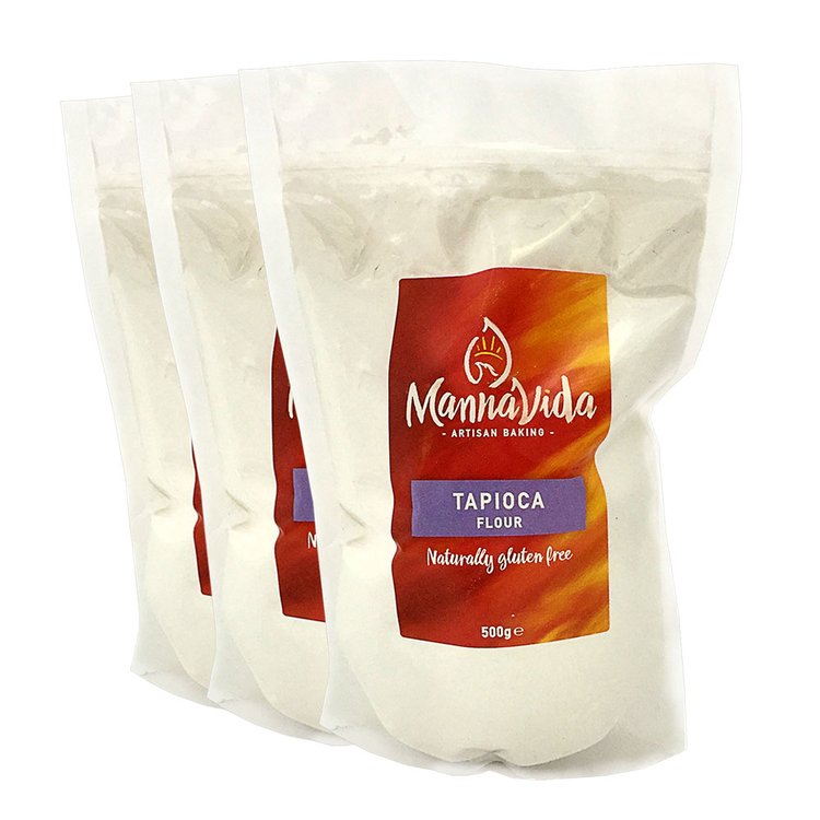 3 x Tapioca Flour 500g (Gluten Free 'Tapioca Starch' for Baking)
