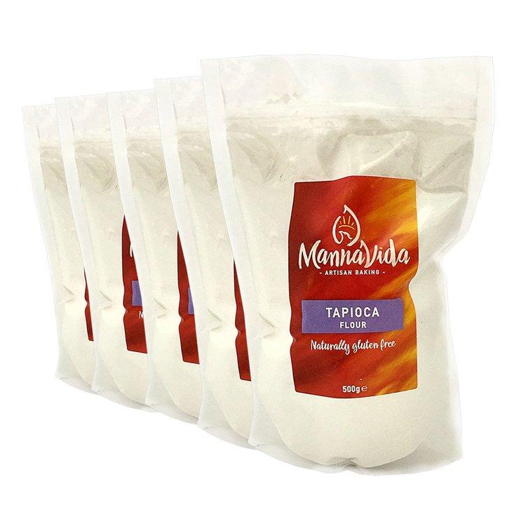 5 x Tapioca Flour 500g (Gluten Free 'Tapioca Starch' for Baking)