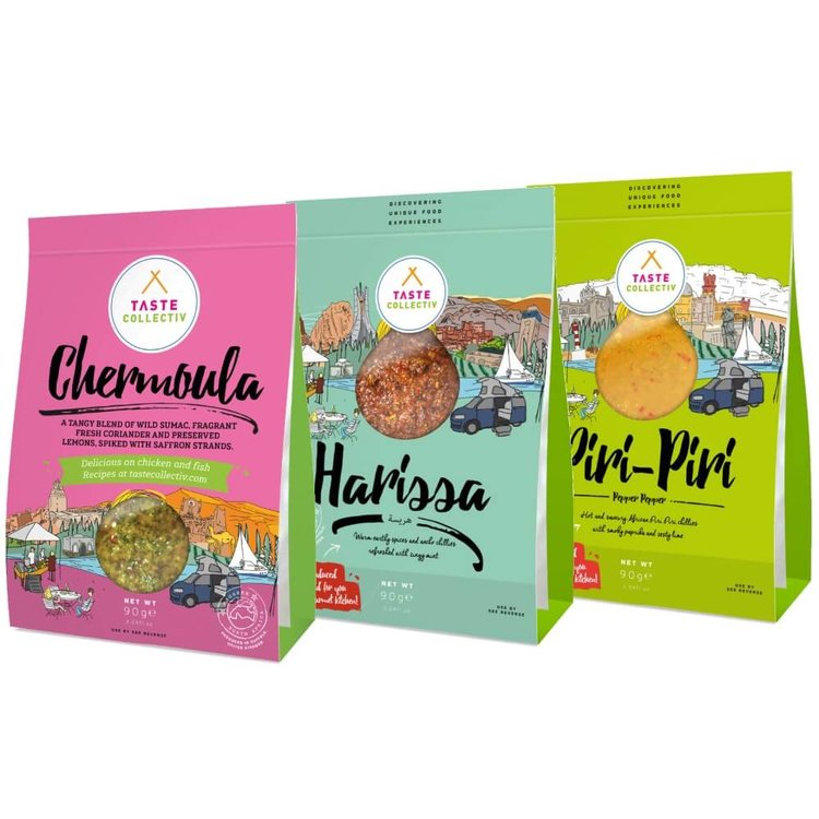 Spice Lovers Marinades Set (Chermoula, Harissa & Piri-Piri &) 3 x 90g