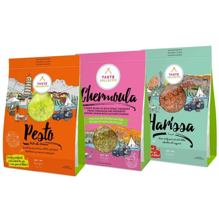 Sauces & Marinades Set (Pesto, Chermoula & Harissa) 3 x 90g