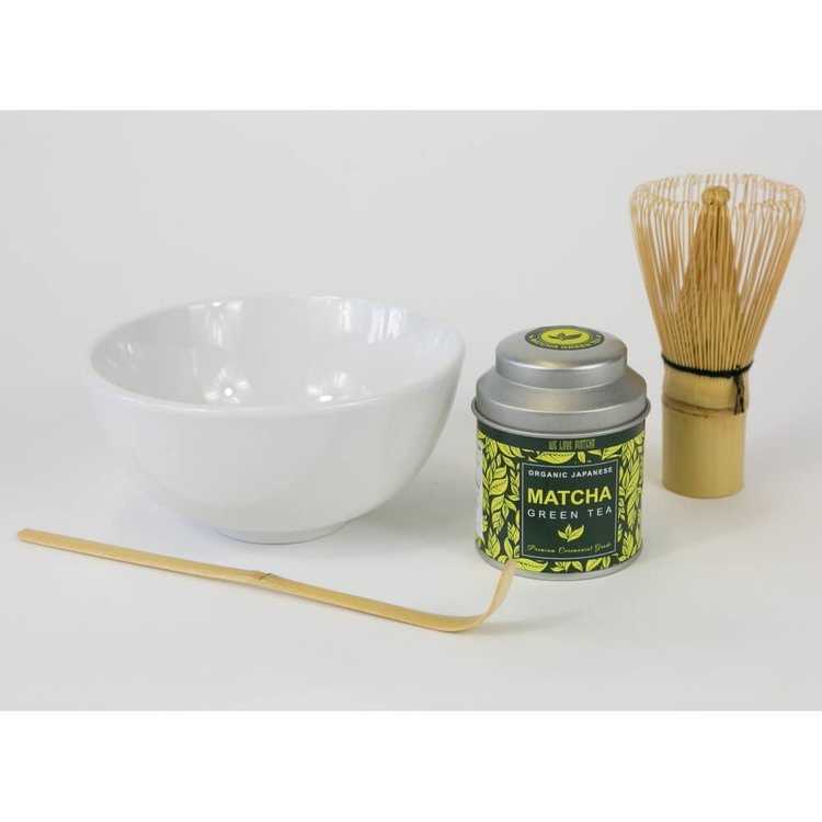 Organic Matcha Green Tea Gift Set with Drinking Bowl