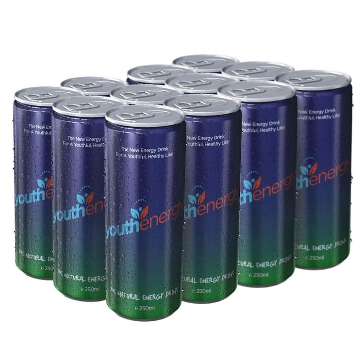 Youthenergy Natural Energy Drink 12 x 250ml