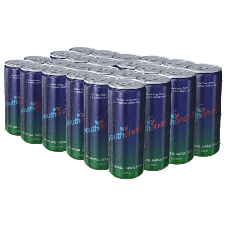 Youthenergy Natural Energy Drink 24 x 250ml