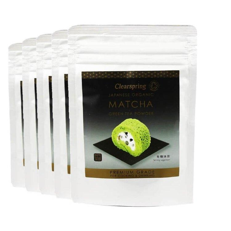 5 x Organic Matcha Green Tea Powder - Premium Grade 40g