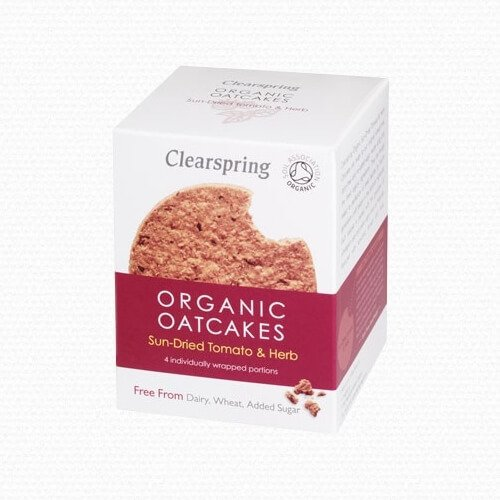 Organic Sun-Dried Tomato & Herb Wholegrain Oatcakes 200g by Clearspring