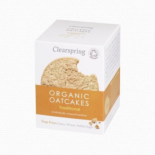 Organic Traditional Wholegrain Oatcakes 200g by Clearspring