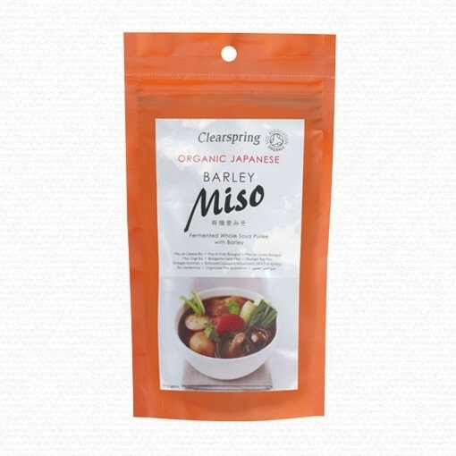 Organic Japanese Barley Miso Paste Pouch 300g by Clearspring