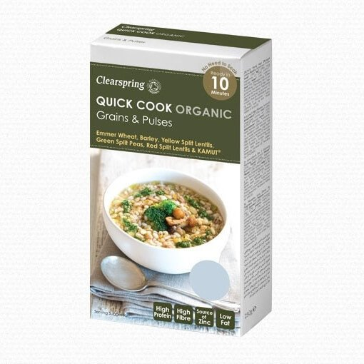Quick Cook Organic Grains & Pulses Inc. Farro, Barley & Lentils 250g by Clearspring