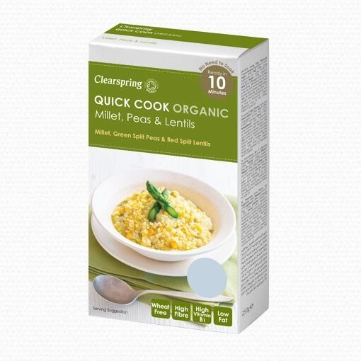 Quick Cook Organic Millet, Peas & Lentils 250g by Clearspring