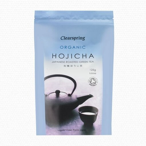 Organic Japanese Hojicha Roasted Green Tea 125g by Clearspring